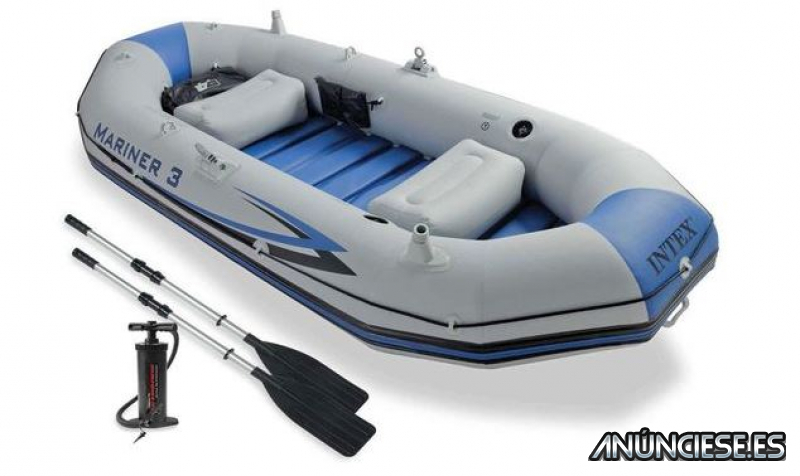 Barca hinchable Intex Set Mariner 3