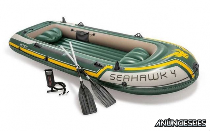 Barca hinchable Intex Set Seahawk 4